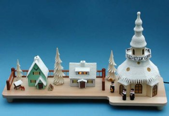 Lichterhaus für die Fensterbank Weihnachtsdorf