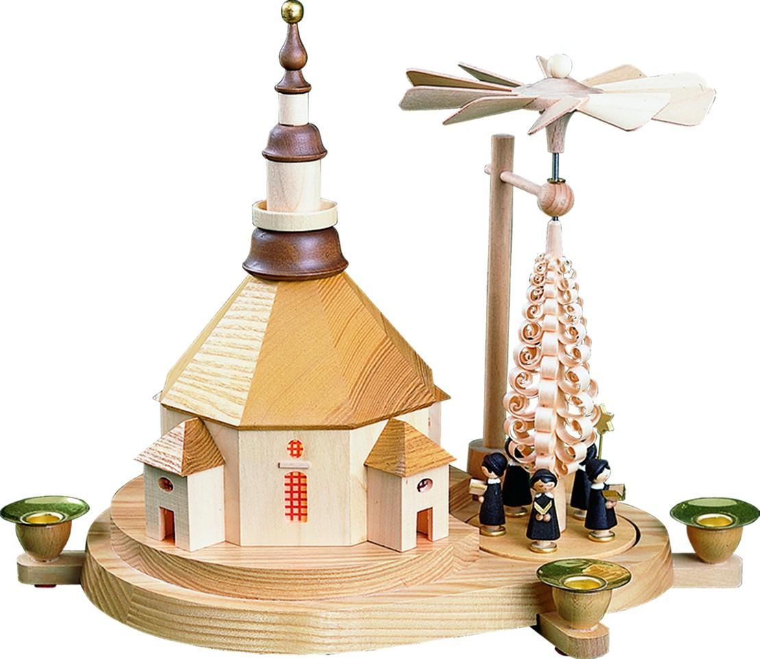 Glässer Seiffener Kirche