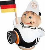 Deutscher Fussballfan Kugelräuchermann